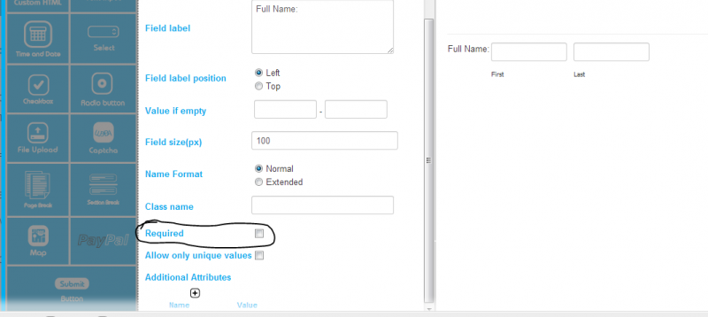 remove first and last name requirements? - Forum – Web Dorado